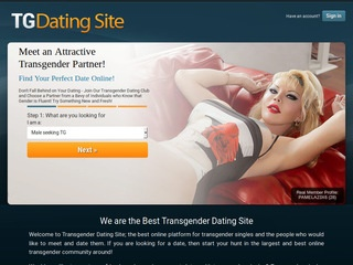 TG Dating Site Homepage Image